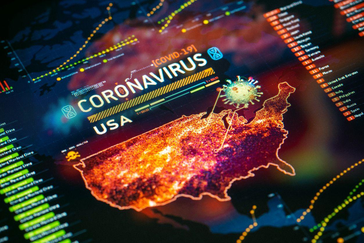 Control estadístico de casos de covid-19 en Estados Unidos.