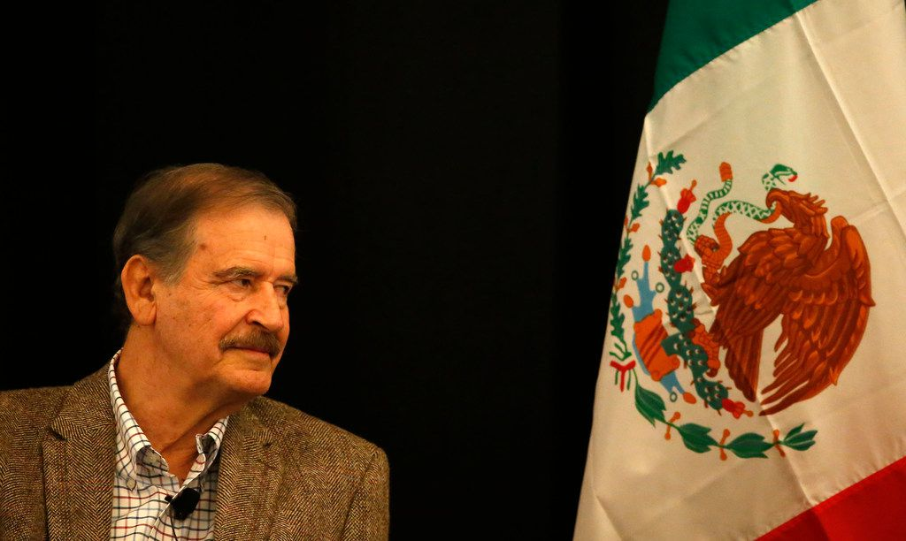 Former Mexican President Vicente Fox attends a Q&A session during the World Affairs Council's International Educator of the Year event at Belo Mansion in Dallas, Monday, Feb. 19, 2018. (Jae S. Lee/The Dallas Morning News)