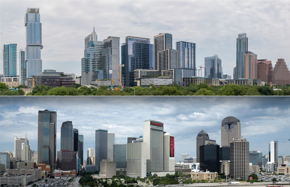 Austin (pictured above)  topped Dallas in the annual property market ranking in the Emerging Trends in Real Estate report.