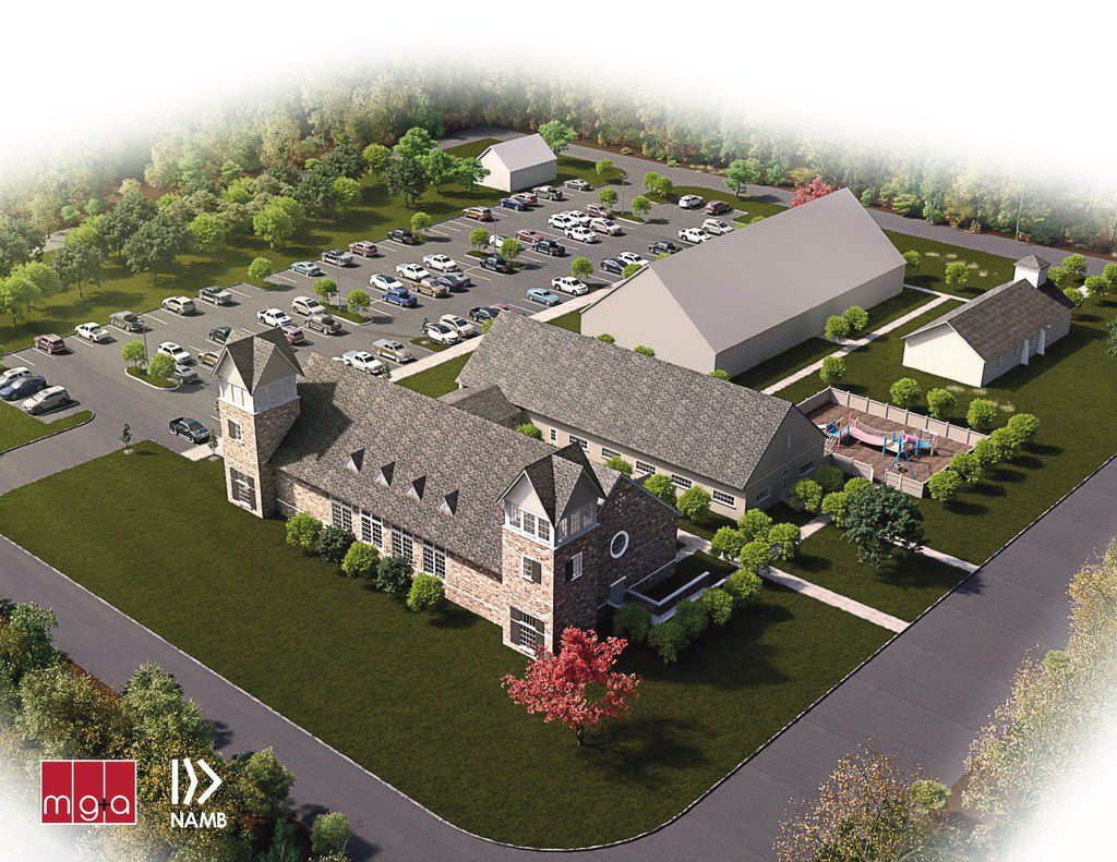 Rendering of the exterior view of First Baptist Church Sutherland Springs, Texas, will undertake construction on two new buildings beginning in May. The buildings' worship center seating 250 people and an education building will be completed in early 2019. Pastor Frank Pomeroy shared details of the plan with media on Tuesday, March 27. FBC Sutherland Springs was the site of one of the worst mass shootings in United States history when a gunmen took the lives of 26 worshippers on Nov. 5, 2017. Another 20 church members were injured in the attack. Details and opportunities to donate to the effort can be found at restoresutherlandsprings.com or namb.net.