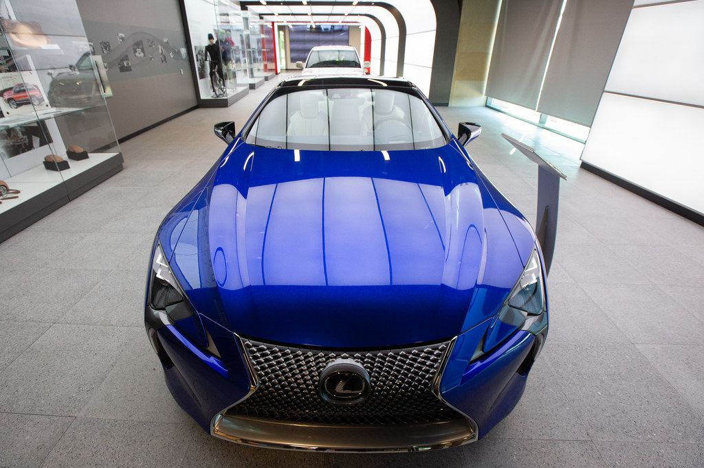 A Lexus LC Inspiration Series Coupe is exhibited during the grand opening of the Toyota Experience Center at the Toyota North American headquarters in Plano, Texas, on Wednesday, Aug. 7, 2019. The center is the motor company's first and only comprehensive museum space. (Lynda M. Gonzalez/The Dallas Morning News)