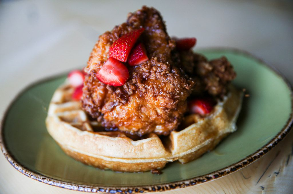 Chicken 'N Waffles is seen at Punch Bowl Social on Thursday, June 27, 2019 in Dallas. (Ryan Michalesko/The Dallas Morning News)