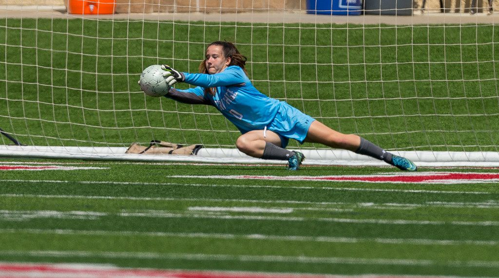 Midlothian Heritage's Megan McCarthy ranks second in the Dallas area in shutouts with 16. (Stephen Spillman/Special Contributor)