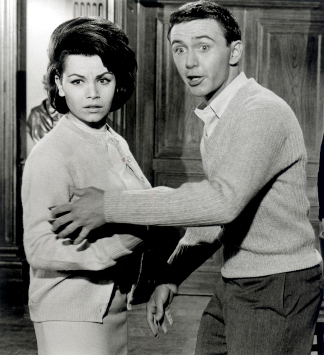 Annette Funicello and Tommy Kirk in 'The Misadventures of Merlin Jones.'