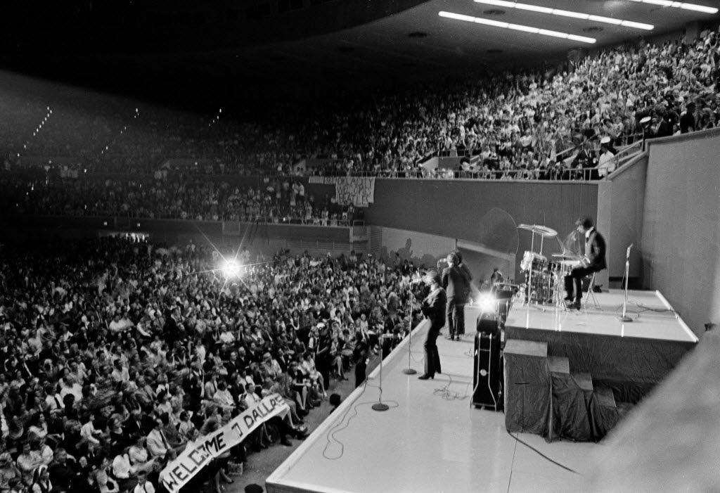 The Beatles performed at Memorial Auditorium in Dallas on Sept. 18, 1964, on their second U.S. tour.