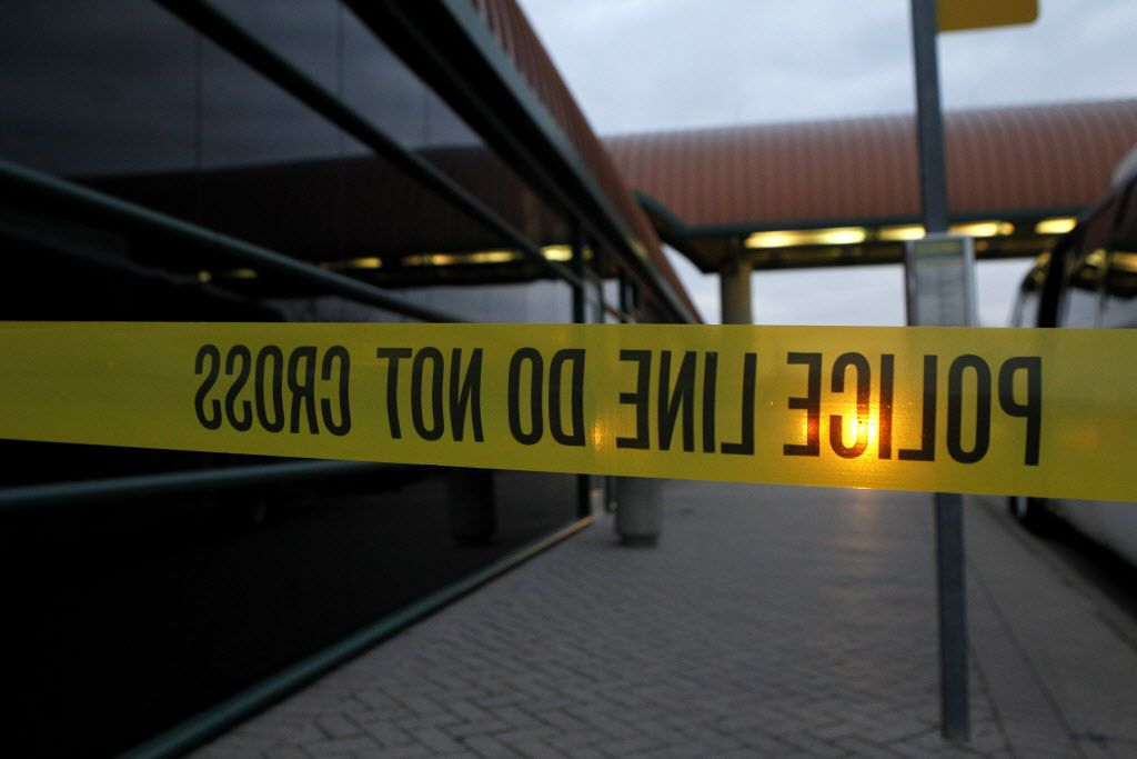 Police tape is seen in this 2012 file photo.