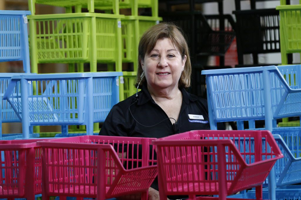 Marsha Meyers, a 66-year-old retired college counselor, works at the Container Store in Dallas.
