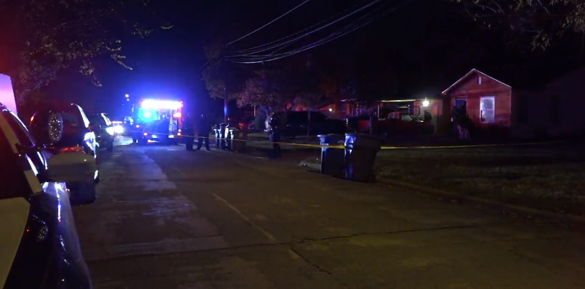 Police at the scene of a fatal shooting early Monday morning in west Oak Cliff, on Nov. 16, 2020.