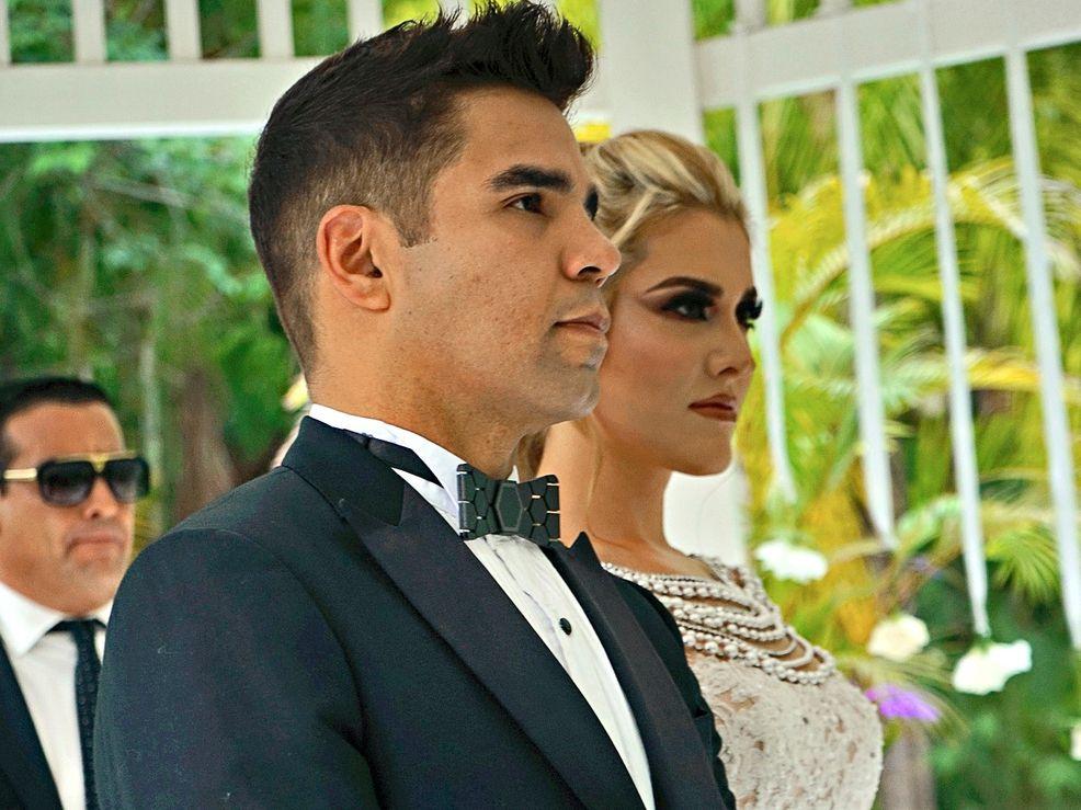 Emir Pabón y Stefanía de Aranda se dieron el sí frente a 27 invitados el fin de semana en Morelos.