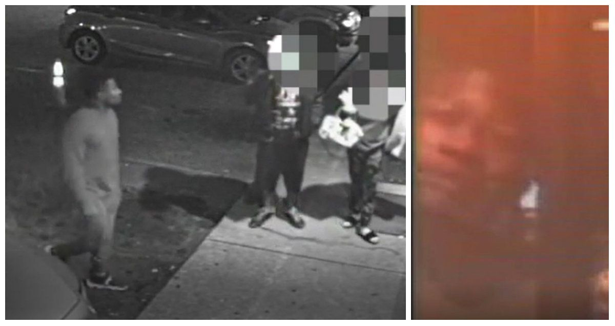 Footage released by Fort Worth police Wednesday shows a gunman walking up to people outside a game room Monday evening and firing. Police also released an image of the gunman's face (right).