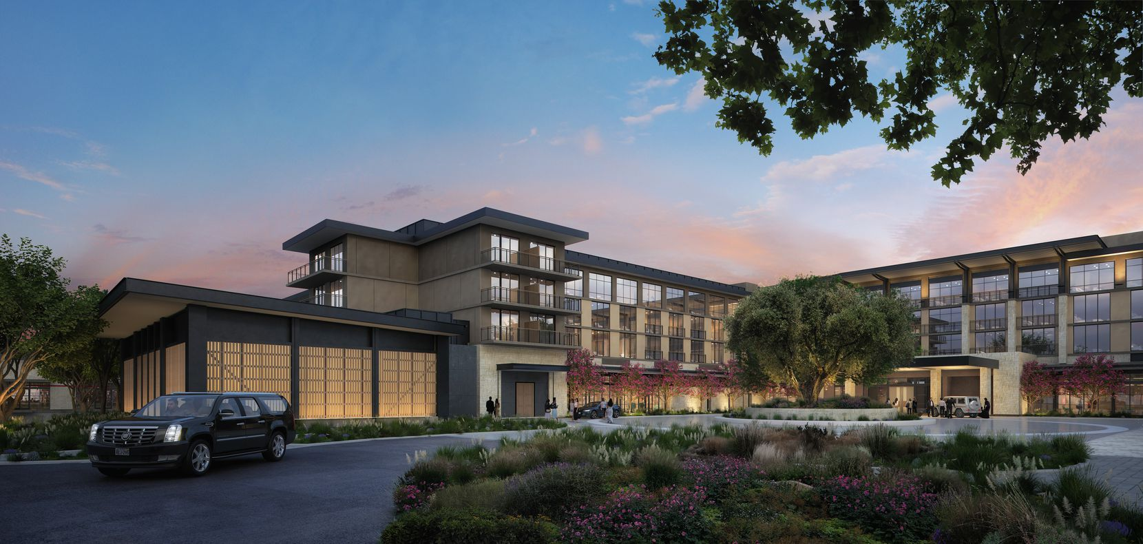 The hotel, conference center and resort is being built as part of the half-billion-dollar PGA of America mixed-use development under construction south of U.S. Highway 380 in Frisco.