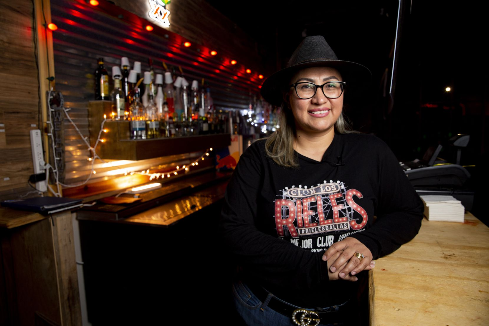 Marta Luis owns and operates Club Los Rieles with her husband.