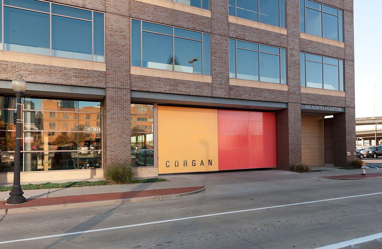 Corgan's headquarters is on Houston Street in downtown Dallas.
