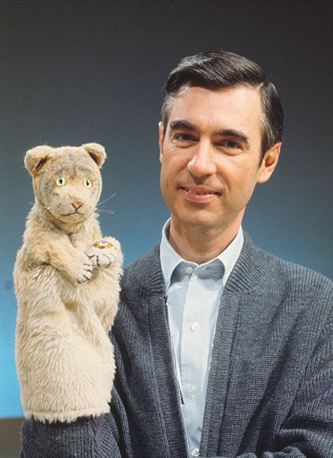 """Fred Rogers with Daniel Striped Tiger in """"Won't You Be My Neighbor?"""""""