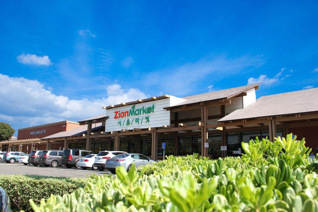 Exterior of Korean grocer Zion Market in Irvine, Calif.