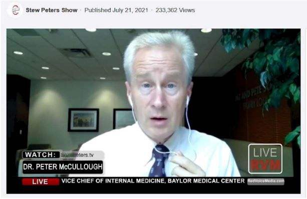 Baylor Scott & White says in its lawsuit that this video is one of many in which Dr. Peter McCullough is falsely identified as still being affiliated with the health system.