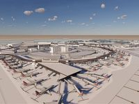 Renderings of a proposed terminal expansion at DFW International Airport. The airport is hoping that adding these piers to Terminals A and C will give space for nine new gates to accommodate growing demand.