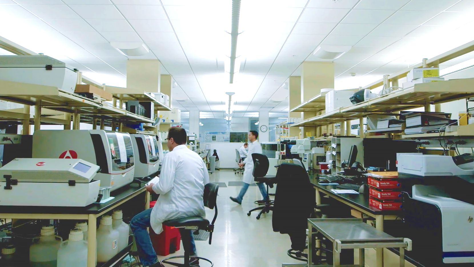 Caris Life Sciences employees work in one of the company's several labs located in Phoenix, Ariz.