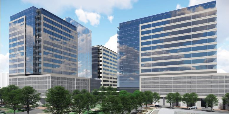 Tier REIT has drawn up plans for two more office towers with 570,000 square feet that it can build on the adjoining property.