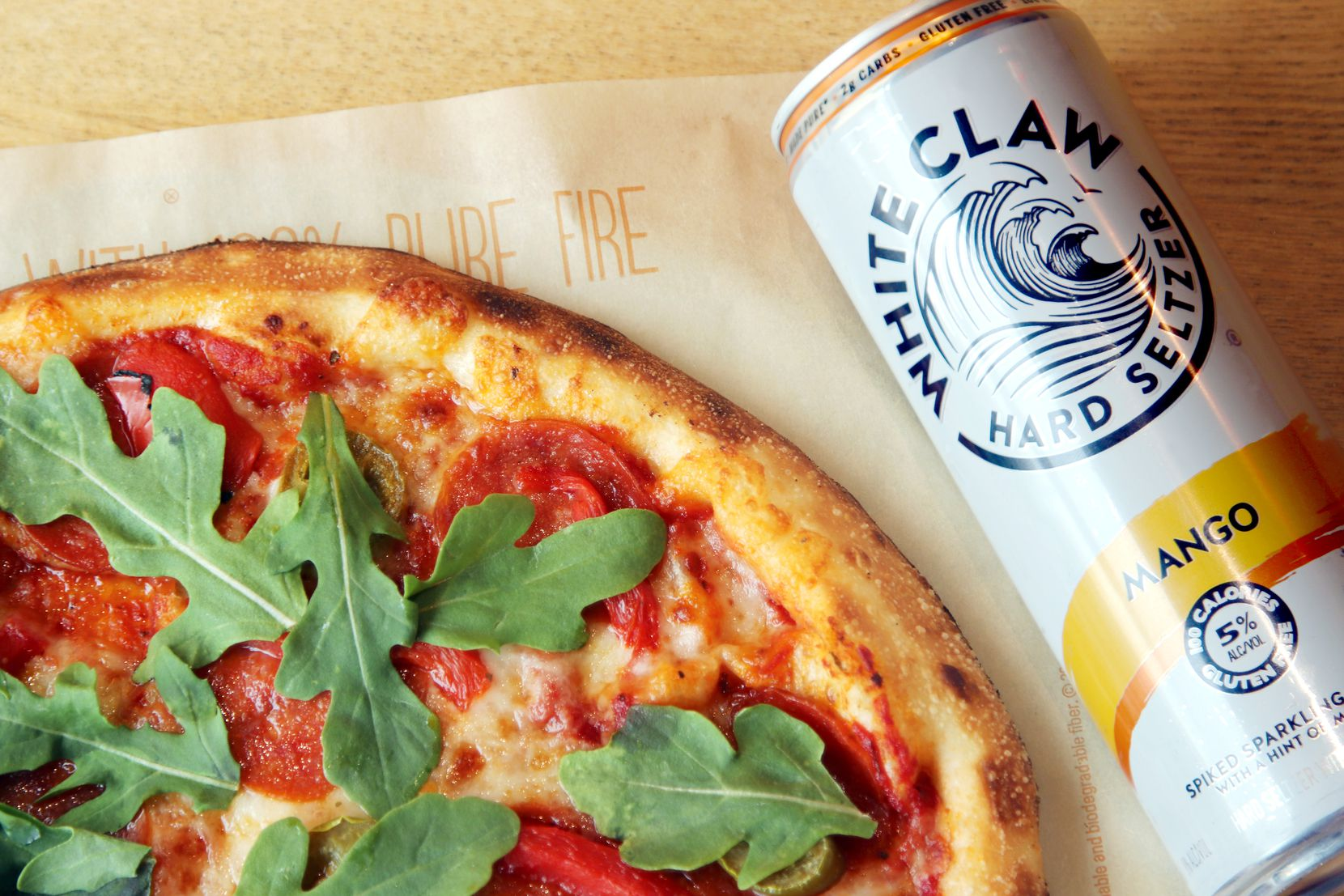 Blaze Fast Fire'd Pizza is selling a pizza with White Claw infused in its crust on June 18, 2020. Most of the restaurants selling the limited-time-only pizzas are in California.