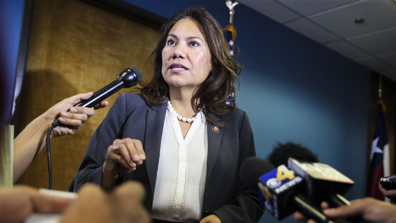Rep. Veronica Escobar, D-El Paso, shown here last summer, criticized President Donald Trump's immigration policies in the Democrats' Spanish-language rebuttal to the president's State of the Union address.