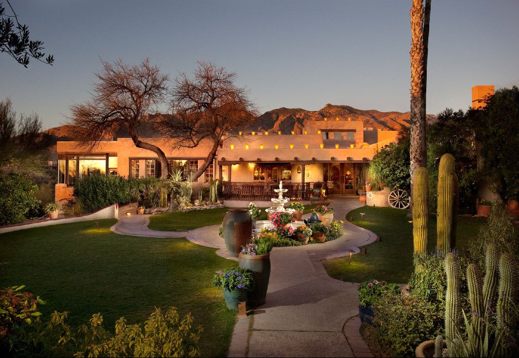 Hacienda del Sol is a beautiful, relaxing resort that was a private girls' school back in the day.