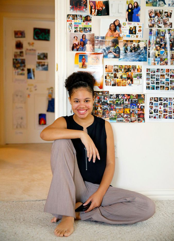 Teen phenom Haley Taylor Schlitz,16, who graduated from high school at 13, is preparing to attend Southern Methodist University's Dedman School of Law this fall, one of nine schools that accepted her, according to the American Bar Association. The Keller, Texas teenager had an accelerated education following her graduation from home schooling in 2013. She since attended Tarrant County College and then Texas Woman's University.  She is photographed at her family's home, Saturday, March 23, 2019.