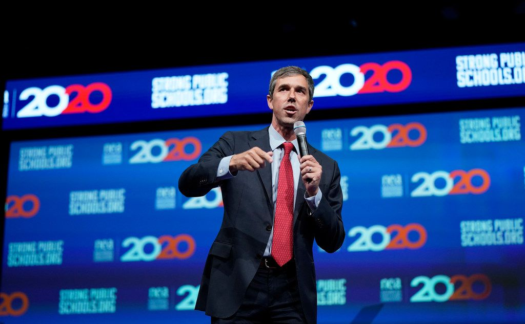 Democratic presidential candidate Beto O'Rourke was among the several Democratic contenders to participate in the National Education Association's presidential forum in Houston in July. The event is one of the many examples of the Democratic field focusing on Houston so far in the 2020 cycle. (AP Photo/David J. Phillip)