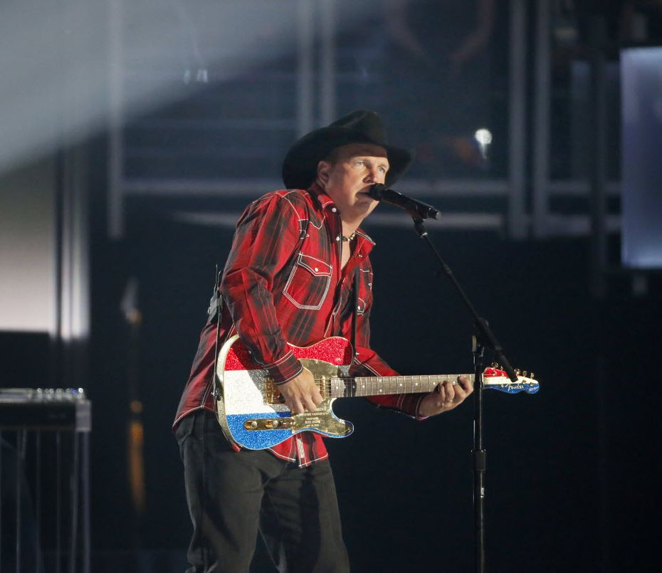 Garth Brooks performed at the 2015 Academy of Country Music Awards on April 19, 2015 at AT&T Stadium in Arlington.