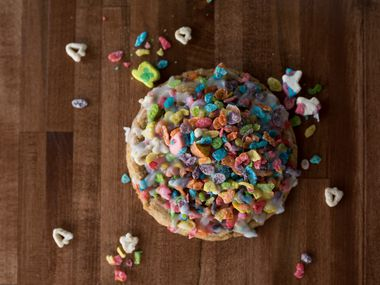 Cookie Society of Frisco makes fun Milk and Cereal cookies.