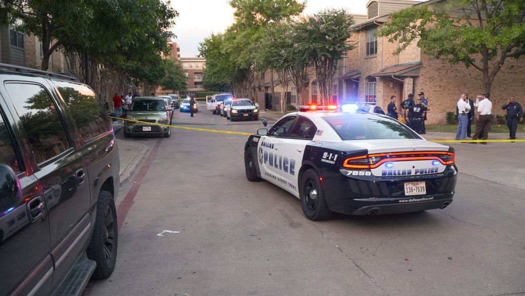 Scene of a shooting at the Roseland Town Homes that killed a 9-year-old girl as a result of gang violence according to Dallas police Wednesday, August 14, 2019.