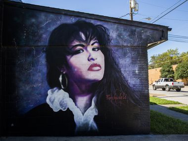 A mural of Tejano singer Selena is on display at 914 W. Commerce Street in Dallas.