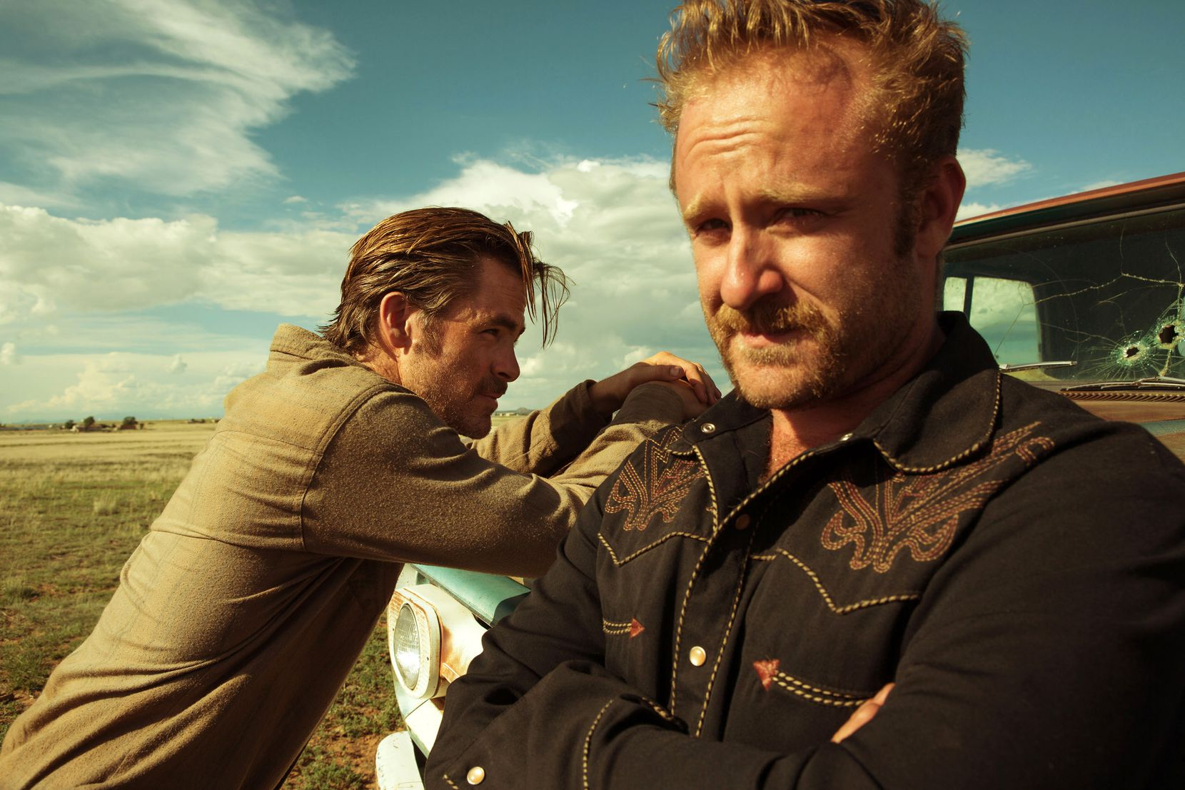"Chris Pine and Ben Foster in a scene from the movie ""Hell or High Water"" directed by David Mackenzie."