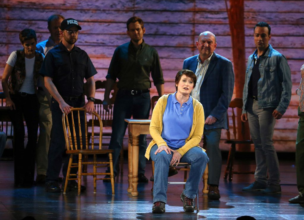"""The cast of """"Come From Away"""" performs at the 71st annual Tony Awards on Sunday, June 11, 2017, in New York. (Photo by Michael Zorn/Invision/AP)"""