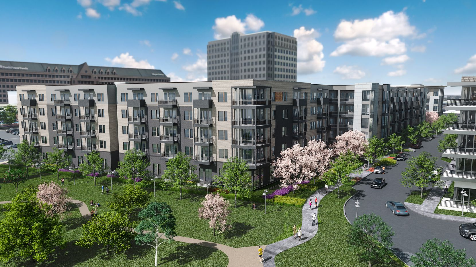 The Jefferson East Branch apartments will be built in two phases on the tollway in Farmers Branch.