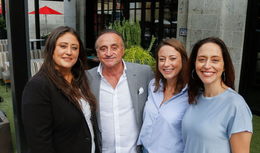From left: Laura Lombardi McDonell, Alberto Lombardi, Sarah Lombardi Santos, Anna Lombardi Daigle at the family's newest restaurant, Taverna Thursday, November 16, 2017 in Plano, Texas Legacy West development.