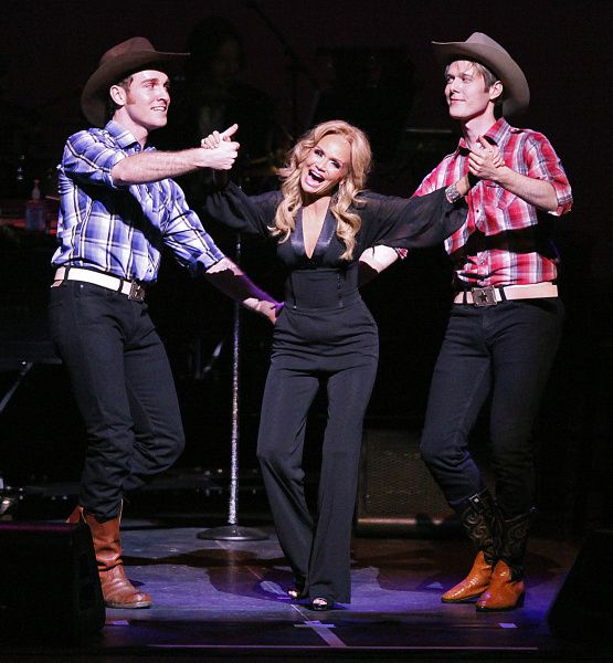 Broadway, television and film star Kristin Chenoweth (center) performed at the Winspear Opera House in Dallas on May 24, 2012.