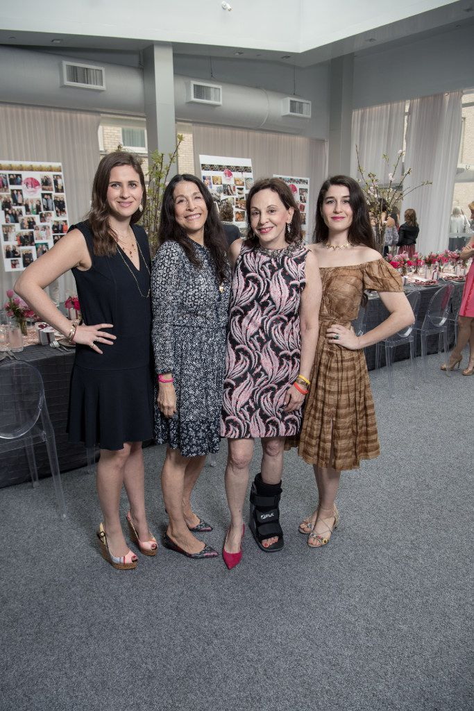 Alysa Teichman, left, jewelry designer Cathy Waterman, Joanne Teichman and Claire Kislinger pose for a mothers and daughters portrait at a trunk show luncheon at the Joule Hotel in Dallas on May 10.