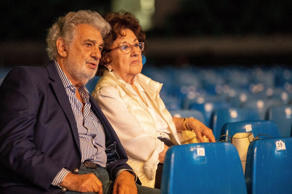Placido Domingo and his wife, Marta, attended a rehearsal last month for the opening gala of the Gerard of Sagredo Youth Forum and Sports Center in Szeged, Hungary,