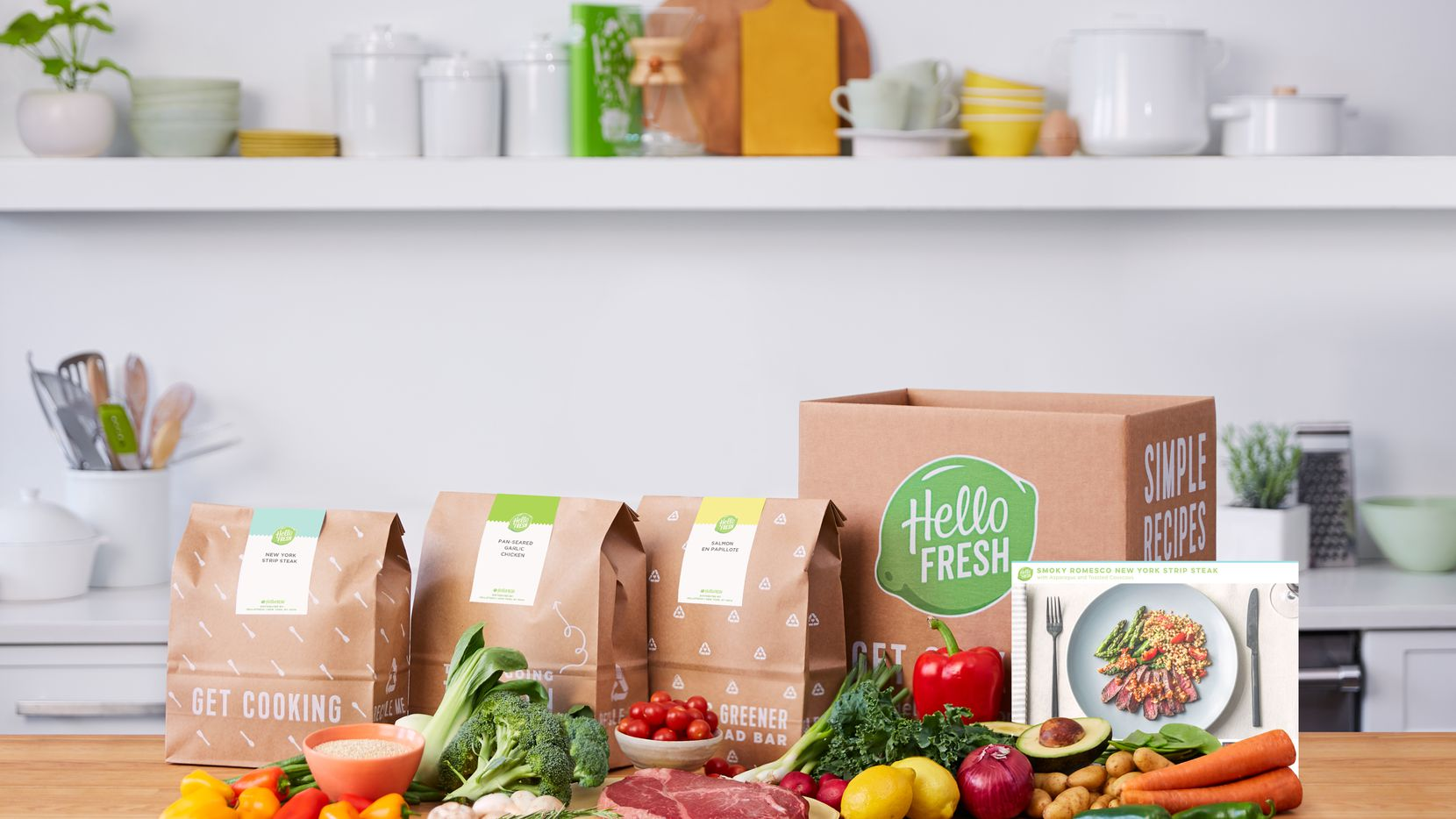 HelloFresh sells prepackaged meal kits to almost 2 million U.S. customers.