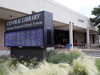 A digital board outside the Nicholson Memorial Library promotes the summer reading program at the library, on Tuesday, June 03, 2014 in Garland. Library summer programs will begin in early June for children and adults.