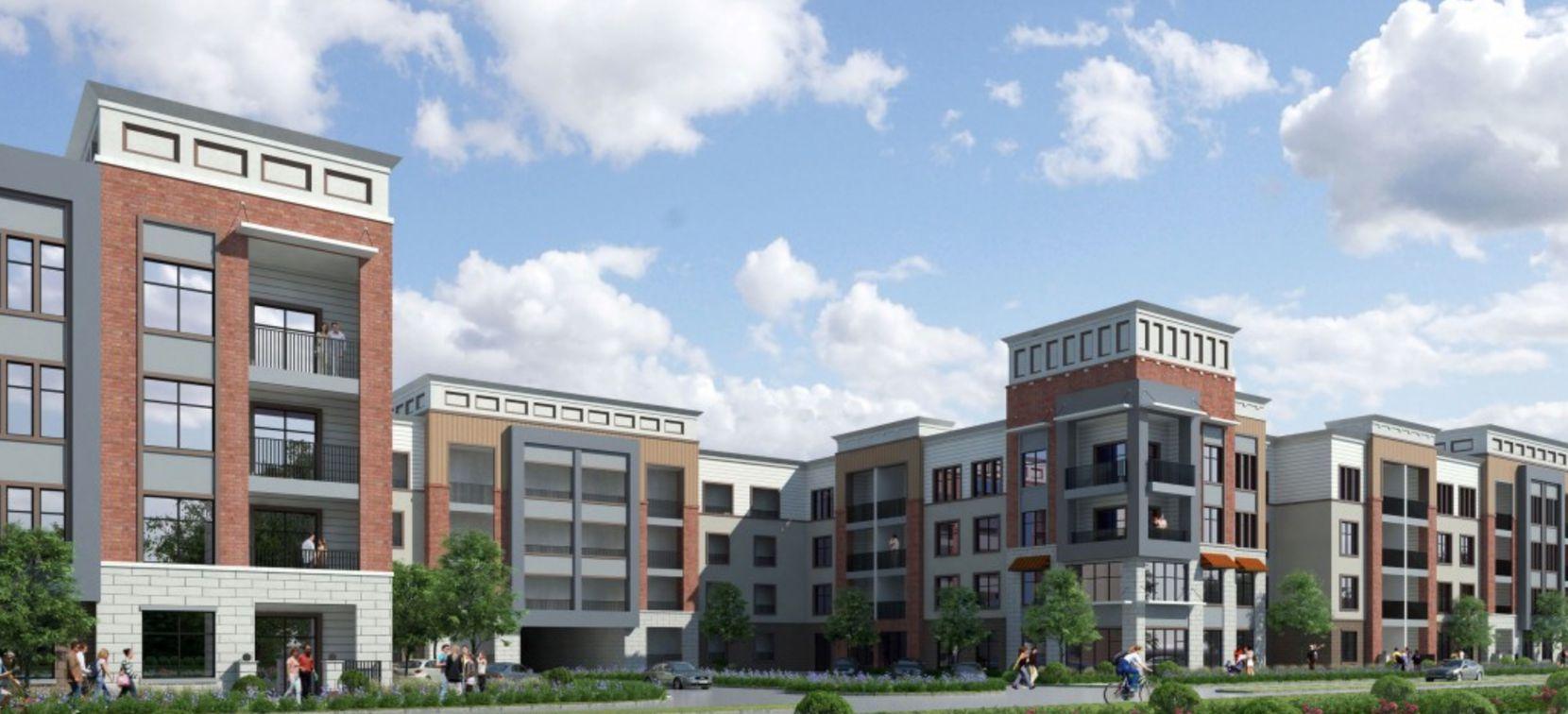 Palladium USA's new rental community in the Redbird Mall redevelopment will open early next year.
