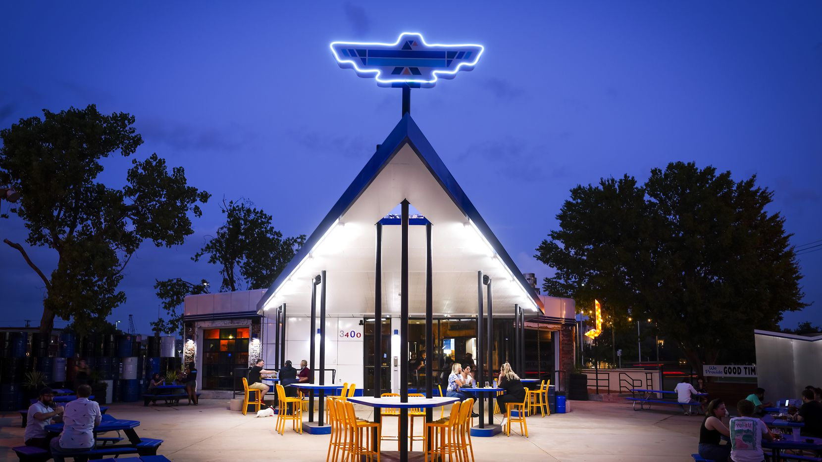 "Thunderbird Station, a new restaurant-bar in an old Deep Ellum gas station, has a sprawling patio on on side, a grassy backyard on the other. ""It doesn't feel like you're in Dallas,"" says owner Kim Finch."
