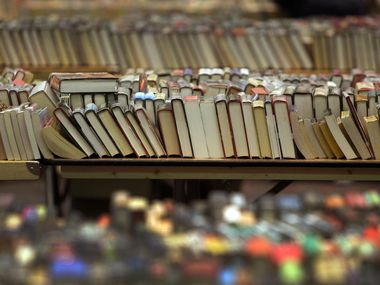 Books are pictured at a public library in Plano.