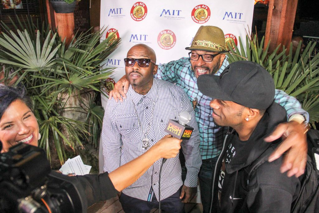 Owner Big Al Mack with Treach and Kay Gee of Naughty By Nature at the party.