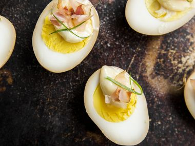SOY SAUCE PICKLED  DEVILED EGGS  from Houston chef Chris Shepherd's new cookbook, 'Cook Like a Local: Flavors than Can Change How You Cook and See the World,' co-written with Kaitlyn Goalen (Clarkson Potter, $35)