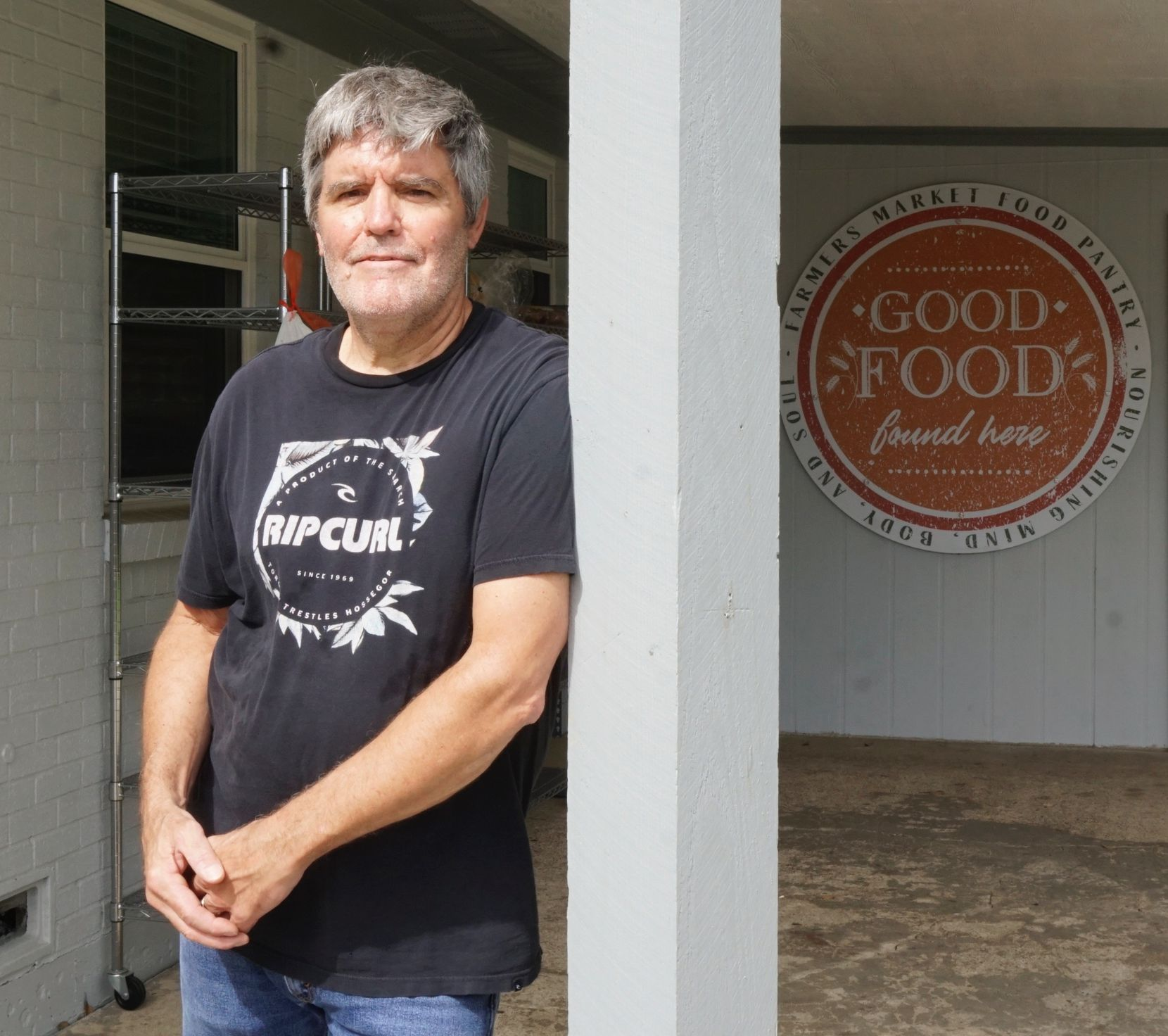 After losing his job in late March, Bill Kennedy of Plano started volunteering at the food pantry in nearby Lewisville.