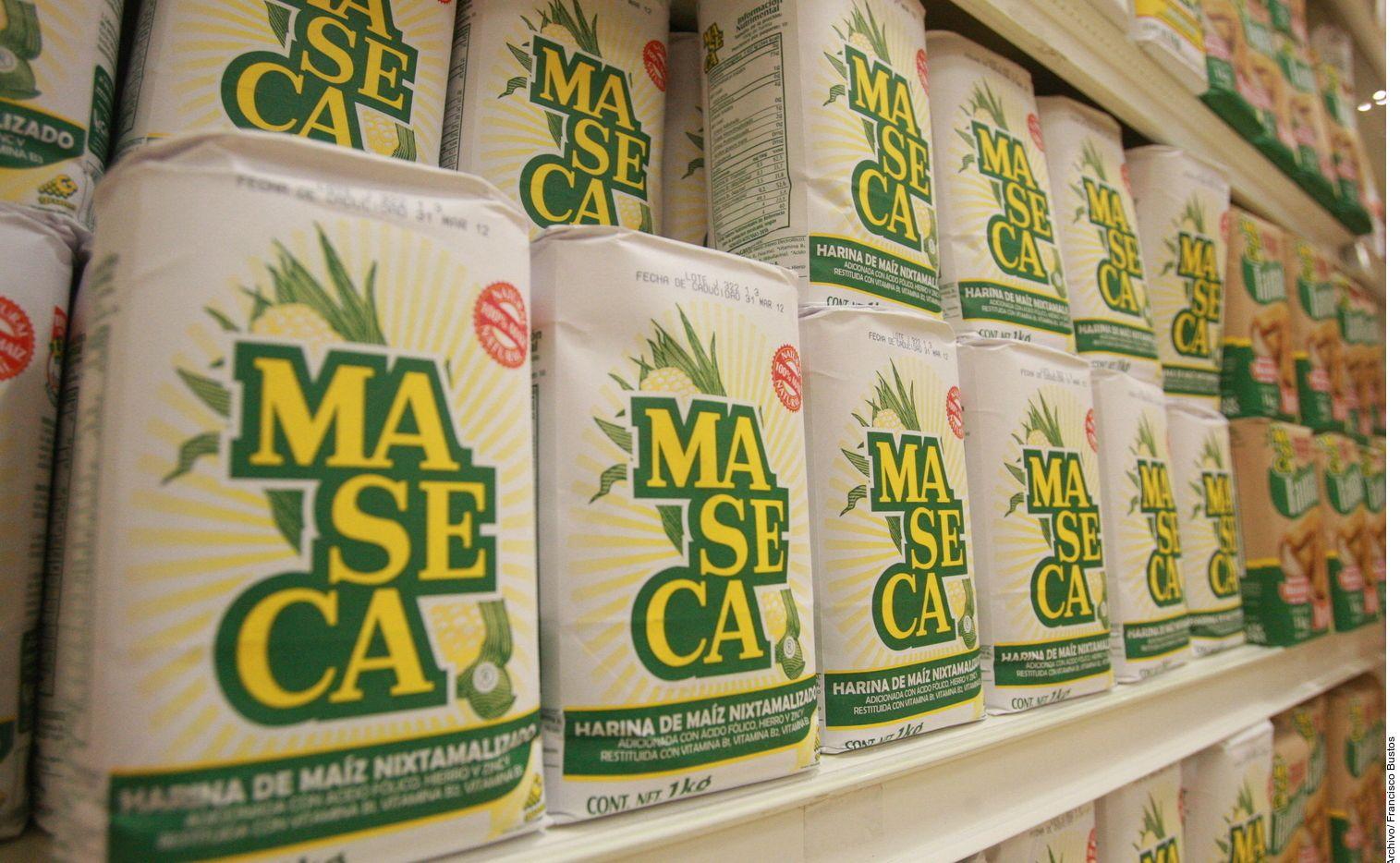 Bolsas de harina de maíz de la marca Maseca, en México.