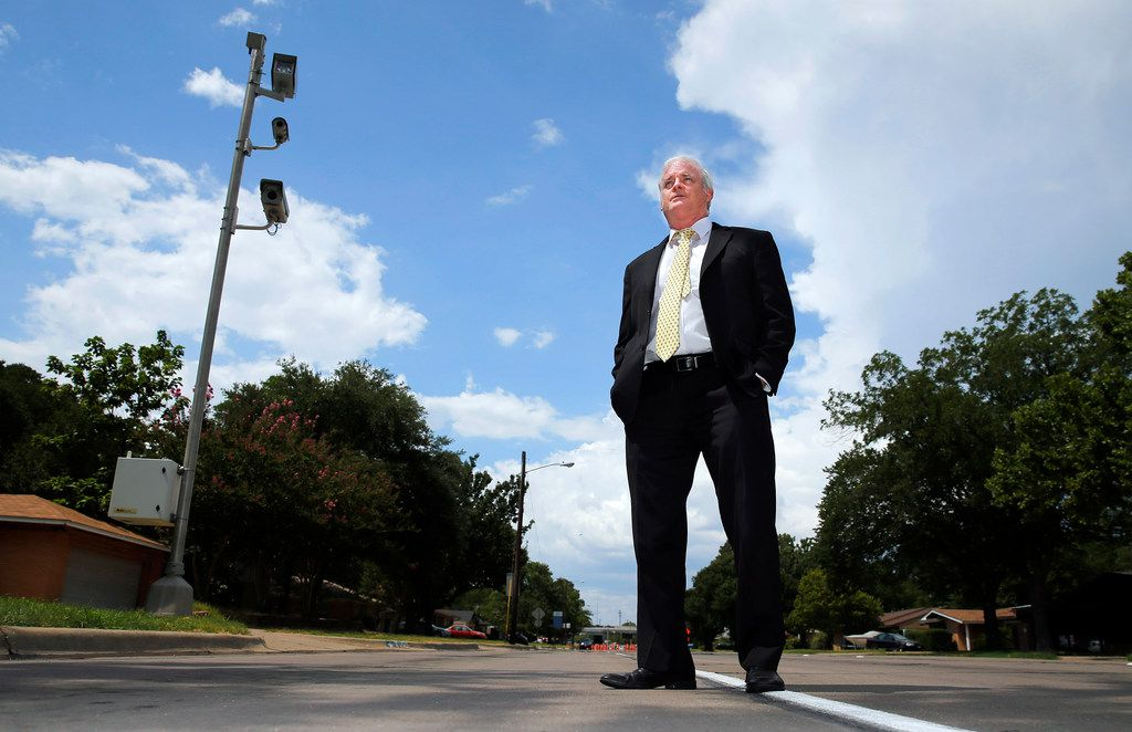 Attorneys Russell Bowman (pictured) and Scott Stewart are challenging the legality of red-light camera use in the city of Irving and several other cities in Texas. The city of Irving uses a set of cameras at O'Connor Road and Lane Street.