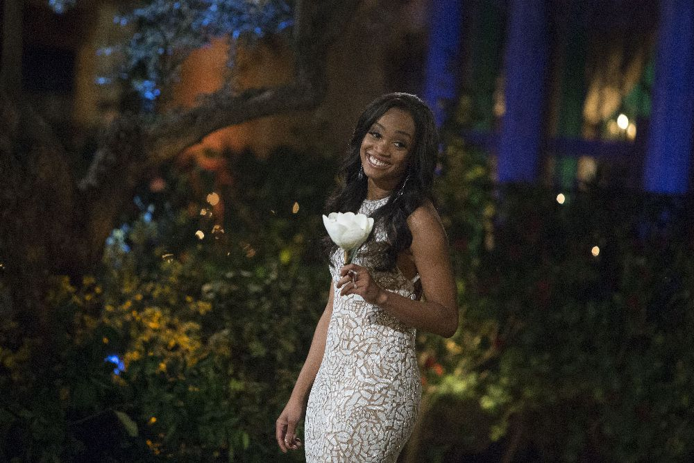 """Rachel Lindsay wanted """"to be entertained"""" the first night at the Bachelor mansion, she said."""